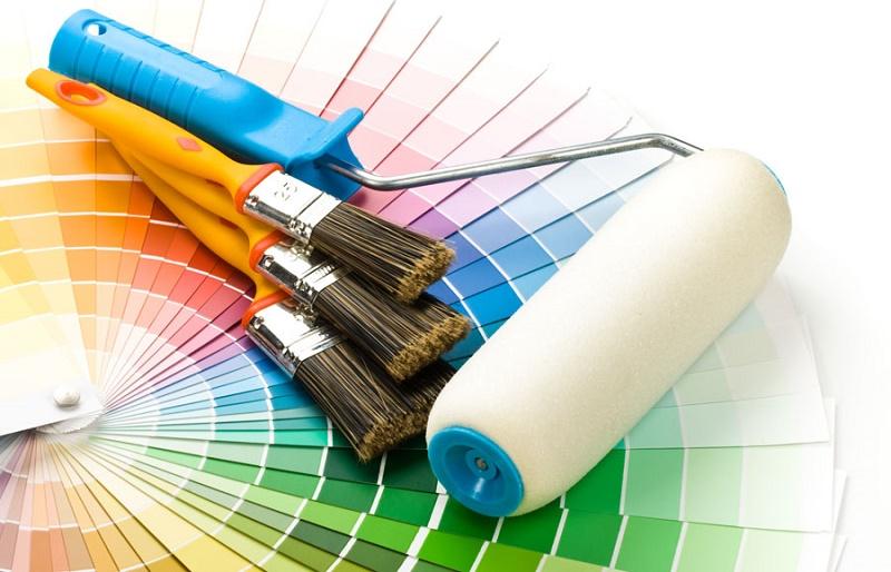 cách pha màu sơn tường nhà   Món Miền Trung
